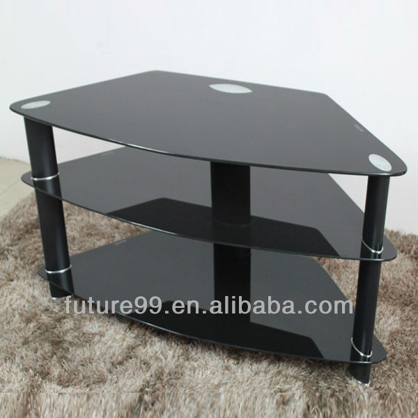 Magnificent Widely Used Triangle TV Stands Regarding Living Room Furniture Glass Lcd Triangle Tv Stand Tv 841 Glass Tv (Image 33 of 50)