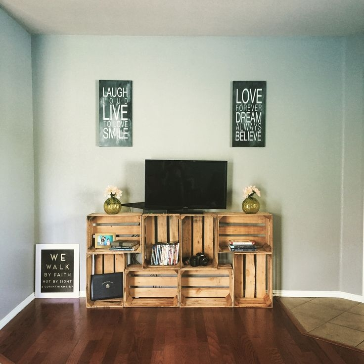 Magnificent Widely Used TV Stands With Storage Baskets Throughout Best 25 Diy Tv Stand Ideas On Pinterest Restoring Furniture (View 42 of 50)