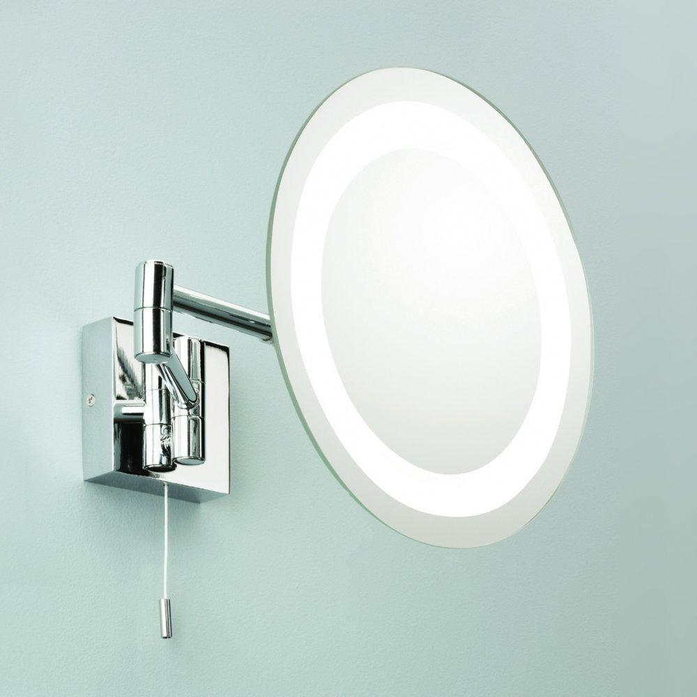 Magnifying Mirror Wall Mounted With Light & Switch – Pinotharvest For Mirror Wall Light (Image 9 of 20)