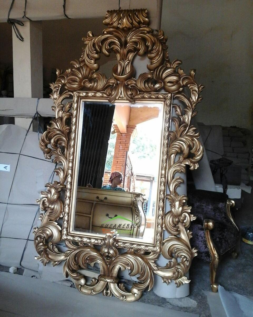 Mahogany Rococo Mirror In Antique Gold Romelou – Luxury Furniture For Rococo Mirror Gold (Image 19 of 20)