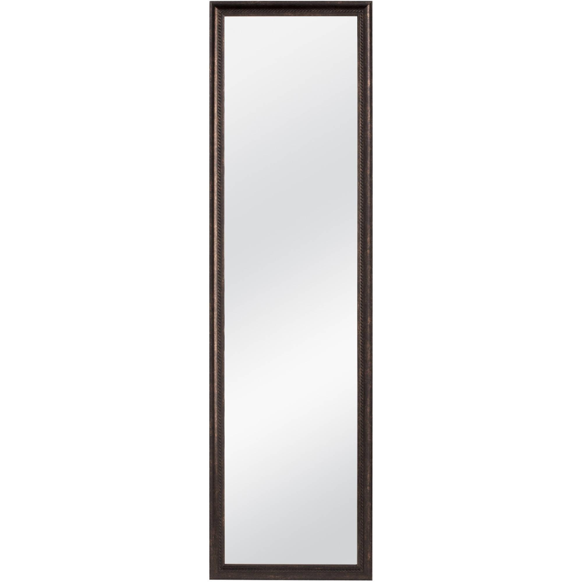 "Mainstays 48"" X 12"" Beveled Door Mirror – Walmart Pertaining To Beveled Full Length Mirror (Image 16 of 20)"
