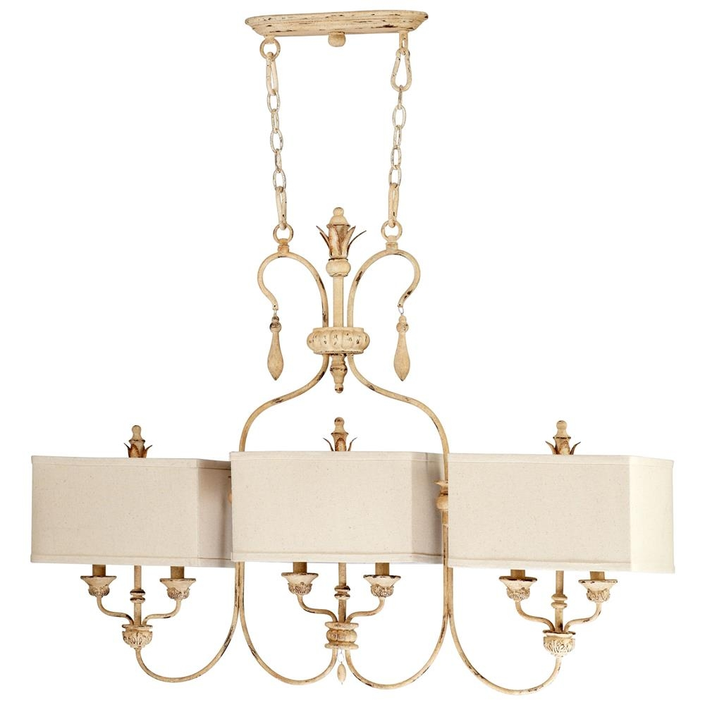 Maison French Country Antique White 6 Light Island Chandelier For French Country Chandeliers (Photo 10 of 25)