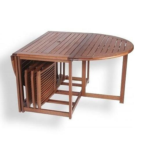 Majestic Folding Patio Dining Table | All Dining Room Intended For Folding Outdoor Dining Tables (Image 17 of 20)