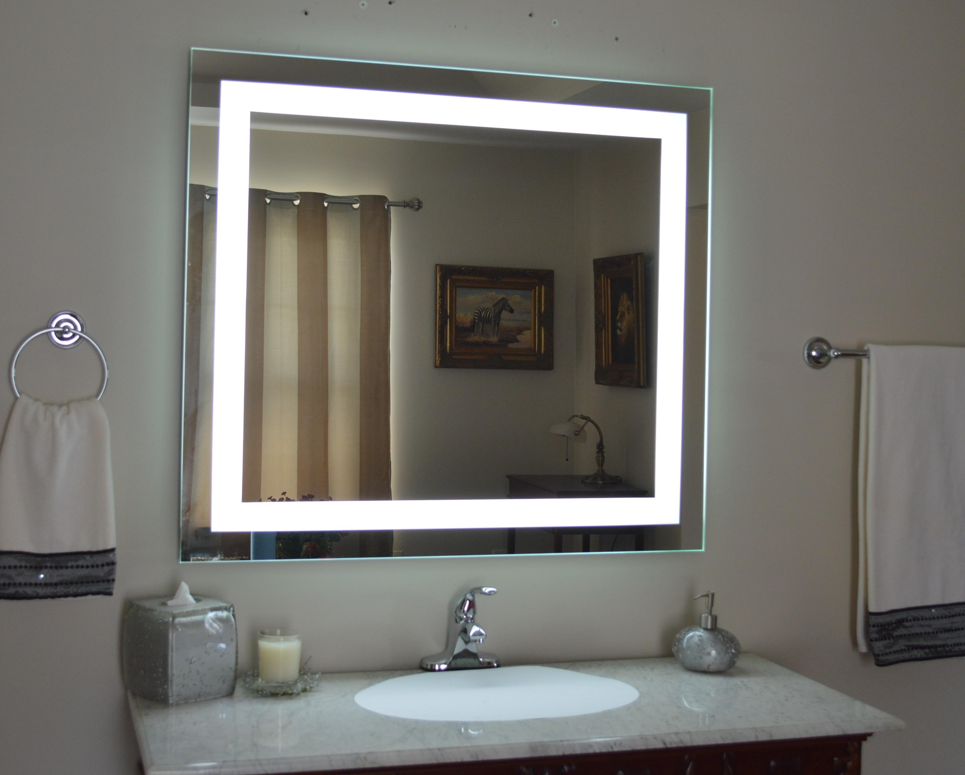Makeup Mirror With Lights Wall Mounted – Pinotharvest With Regard To Mirror Wall Light (Image 11 of 20)