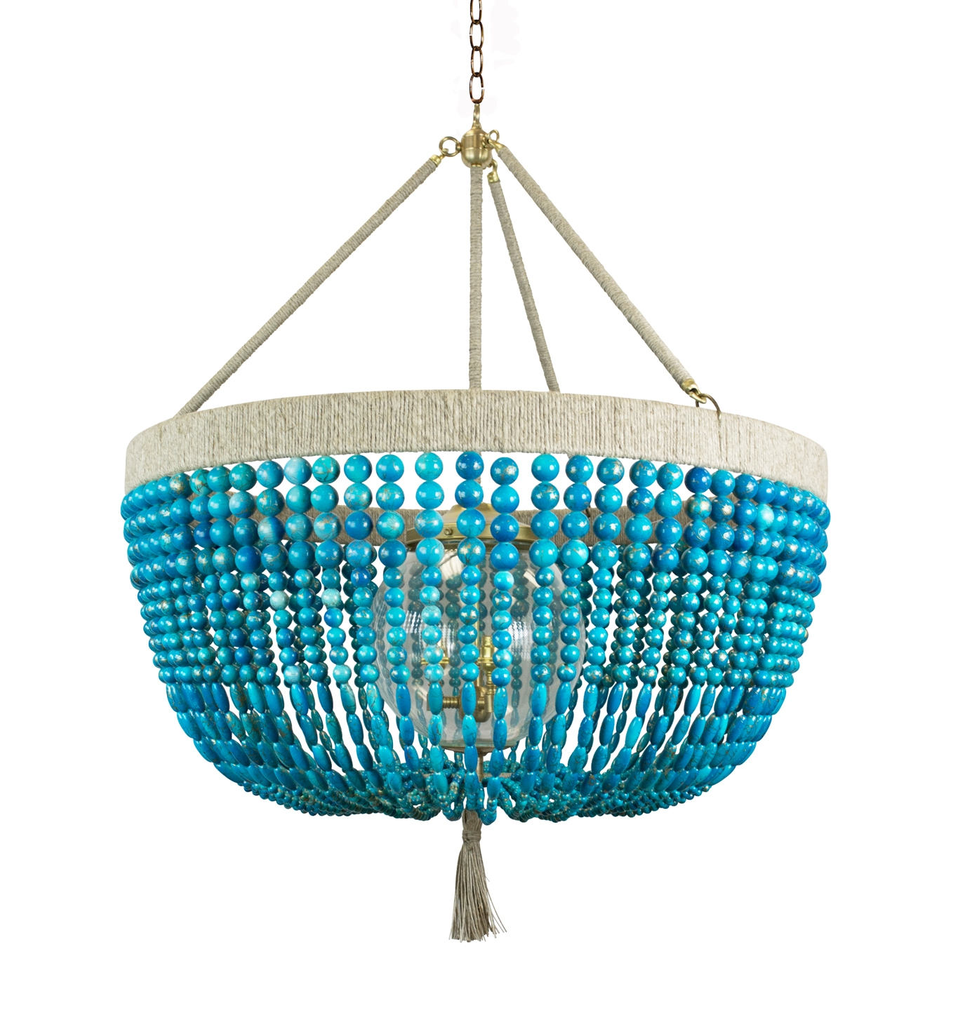 Malibu 30 Turquoise Swirl Outdoor Chandelier Ro Sham Beaux Regarding Turquoise Chandelier Lights (Image 21 of 25)
