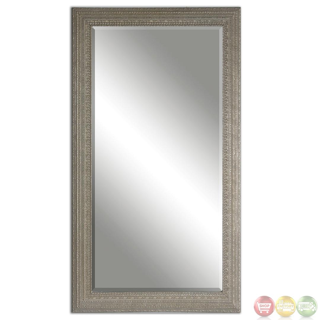Malika Traditional Silver Champagne Mirror 14603 | Ebay Inside Champagne Mirror (Image 13 of 20)