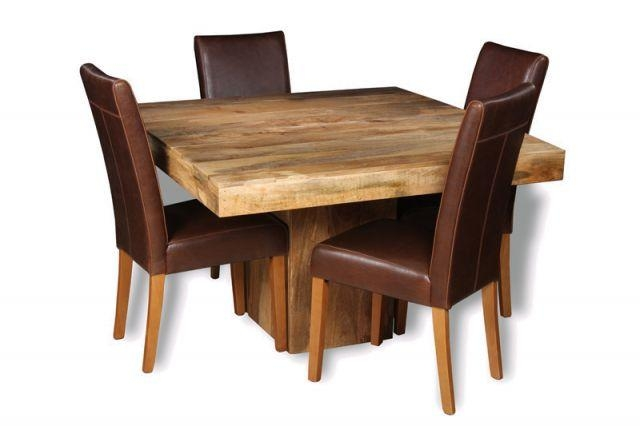 Mango 120Cm Cube Dining Table & 4 Barcelona Chairs | Trade Inside Cube Dining Tables (Image 9 of 20)