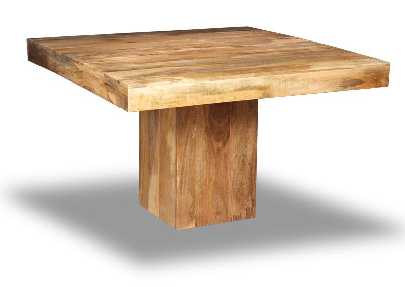 Mango Light 120Cm Cube Dining Table | Solid Wood Furniture In Cube Dining Tables (Image 11 of 20)