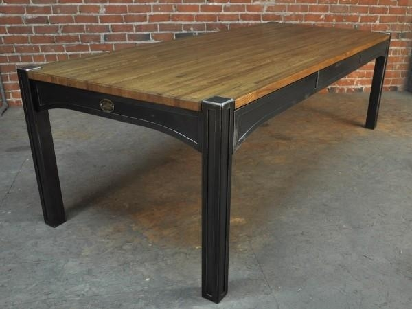 Manificent Decoration Industrial Style Dining Table Sensational With Regard To Industrial Style Dining Tables (Image 19 of 20)