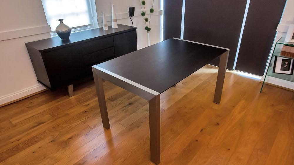 Manificent Design Metal Wood Dining Table Inspiring Ideas Metal Throughout Brushed Metal Dining Tables (Image 15 of 20)
