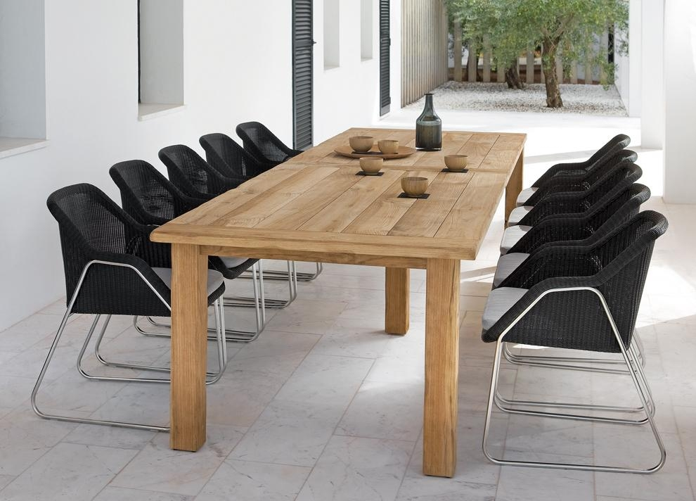 Manutti Asti Teak Garden Dining Table – Modern Garden Tables For Garden Dining Tables (View 18 of 20)