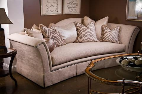 Marge Carson Sofa And Animal Print Pillows (Image 12 of 20)