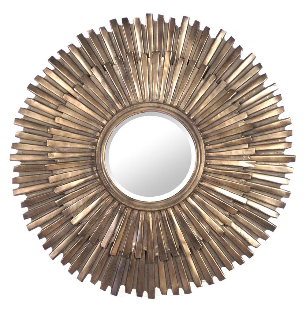 Margot Hollywood Regency Antique Bronze Sunburst Mirror | Kathy In Bronze Starburst Mirror (Image 14 of 21)