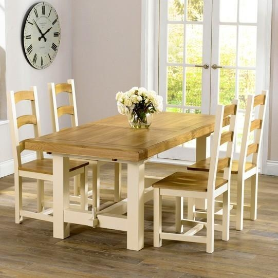 Marino Cream & Oak – Cream & Oak Furniture – Furniture Shopping Within Cream And Wood Dining Tables (View 9 of 20)