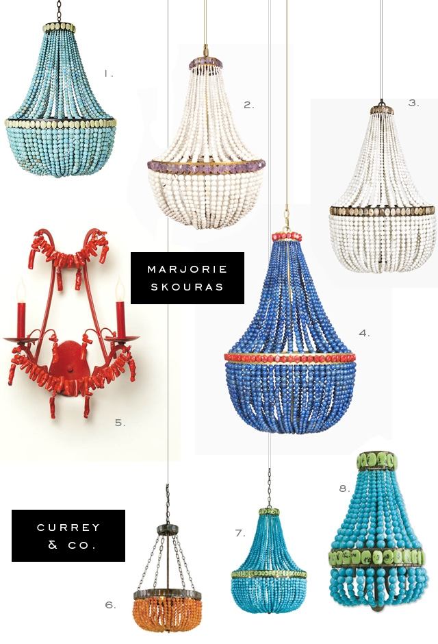 Marjorie Skouras For Currey And Company Lighting Fixtures With Turquoise Beaded Chandelier Light Fixtures (Image 20 of 25)
