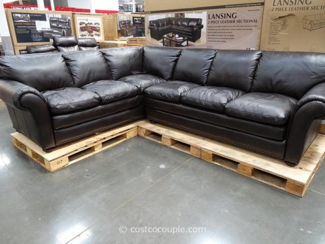 Marks And Cohen Lansing 2 Piece Leather Sectional Pertaining To Costco Leather Sectional Sofas (Image 14 of 20)