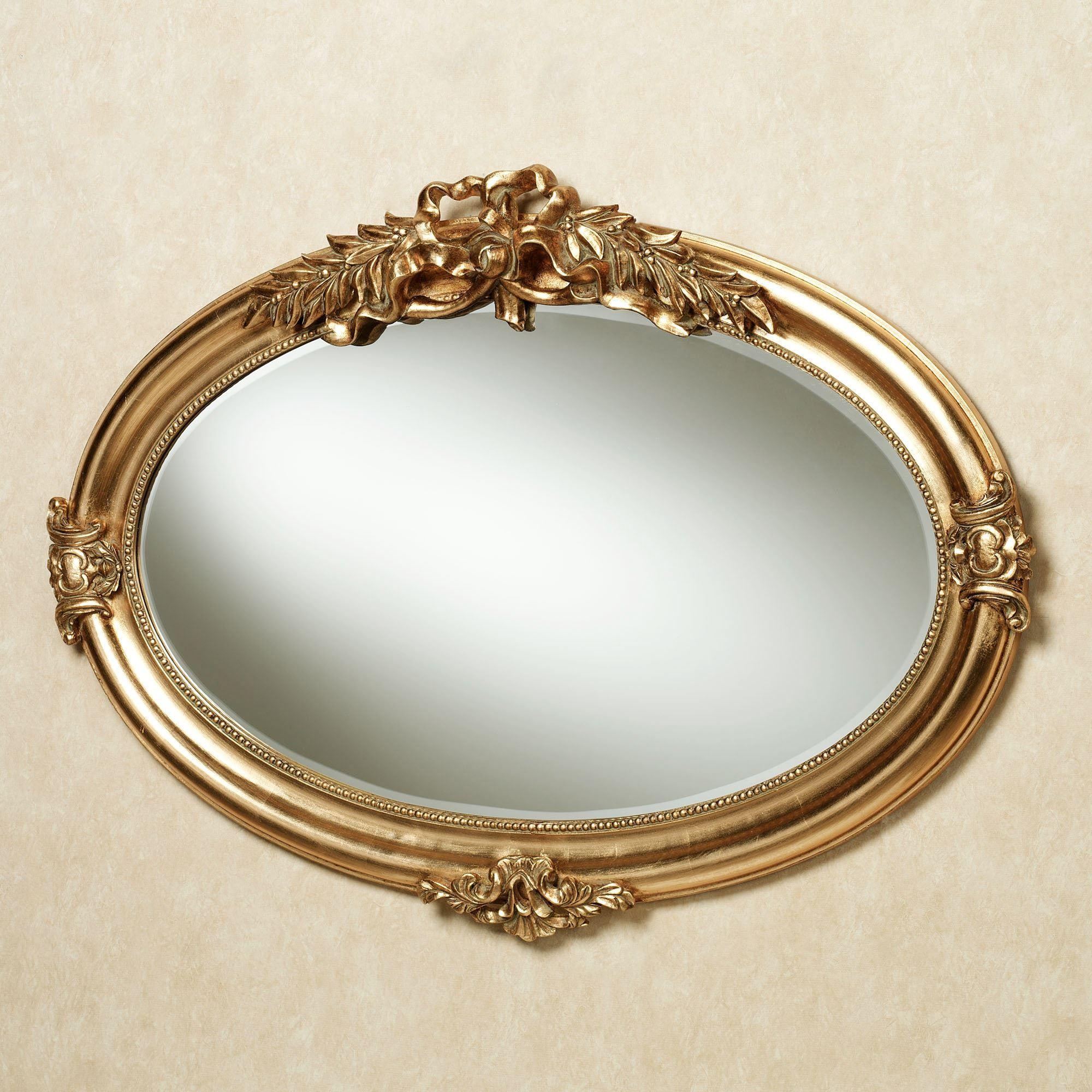 Marsciano Horizontal Oval Wall Mirror Pertaining To Gold Wall Mirrors (Image 12 of 20)