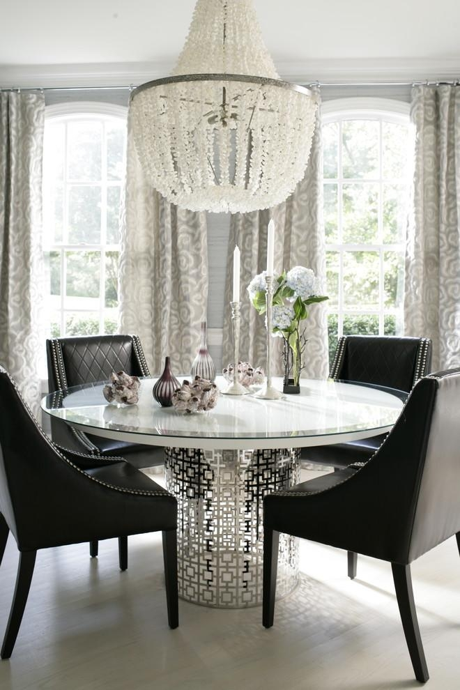 Marvelous Shell Chandelier Vogue Raleigh Contemporary Dining Room Throughout Vogue Dining Tables (Image 11 of 20)