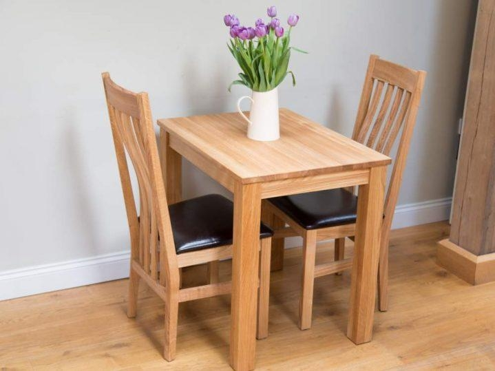 Marvelous Small Oak Dining Table And 2 Chairs Small Kitchen Oak Throughout Dining Tables For Two (View 17 of 20)