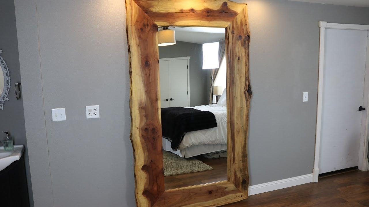 Massive Live Edge Redwood Mirror – Youtube Inside Massive Mirror (Image 17 of 20)