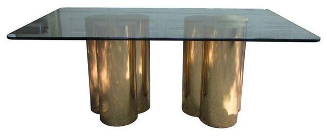 Mastercraft Brass Trefoil Dining Table Base Throughout Contemporary Base Dining Tables (Image 15 of 20)