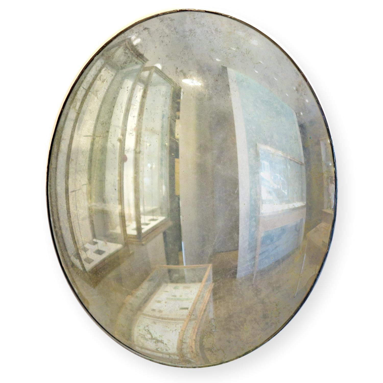 Maureen Fullam 12 Inch Round Silver Leafed Mirror – August Regarding Large Round Convex Mirror (Image 14 of 20)