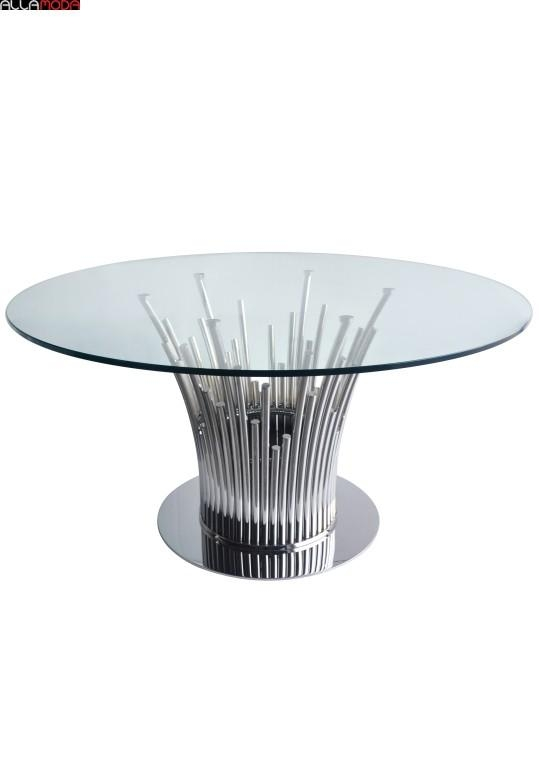 Mauris Stainless Steel Dining Table Modern Furniture Intended For Glass And Stainless Steel Dining Tables (Image 12 of 20)