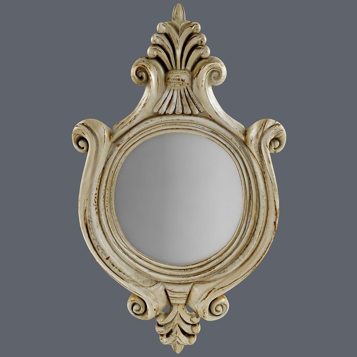 Max Antique Mirror For Antique Round Mirror (Image 13 of 20)