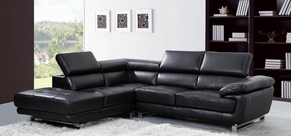 Maxim Corner Lhf Black – Leather Corner Sofas – Sofas Pertaining To Black Leather Corner Sofas (View 9 of 20)
