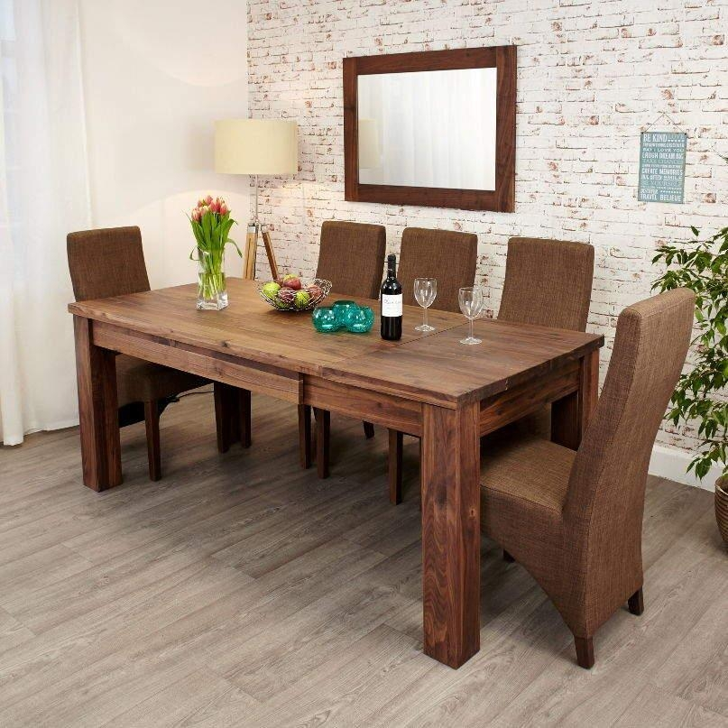 Mayan Walnut Extending Dining Table • Akd Furniture With Walnut Dining Table And 6 Chairs (Image 16 of 20)