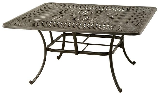 Mayfairhanamint Luxury Cast Aluminum Patio Furniture 60 Throughout Mayfair Dining Tables (Image 14 of 20)