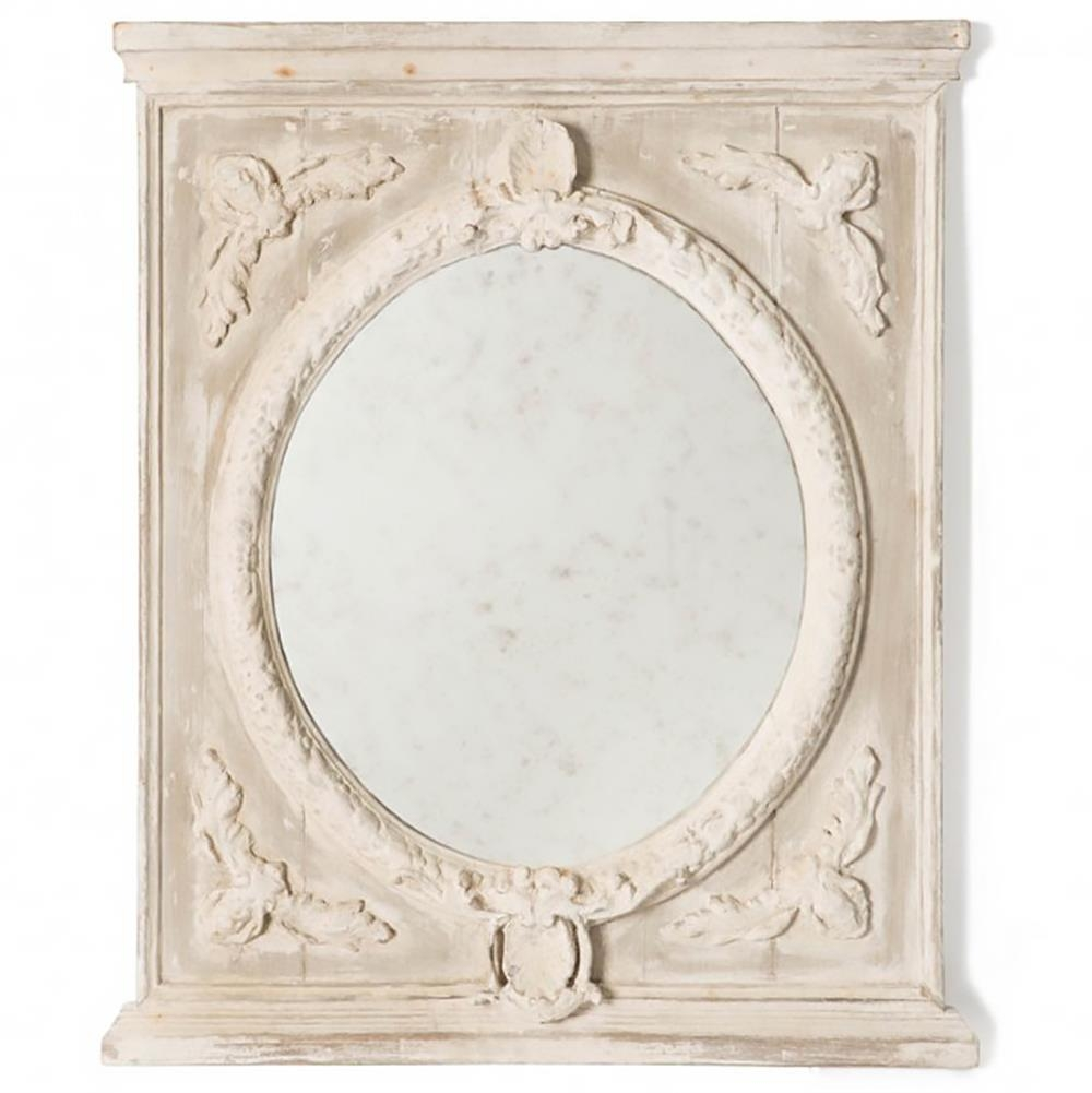 Melina French Country Vintage Grey Wall Mirror | Kathy Kuo Home Pertaining To French Wall Mirrors (Image 13 of 20)