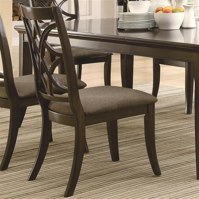Meredith 7 Pc Dining Table Set In Espresso Finishcoaster – 103531 With Regard To Dining Table Sets For  (Image 15 of 20)