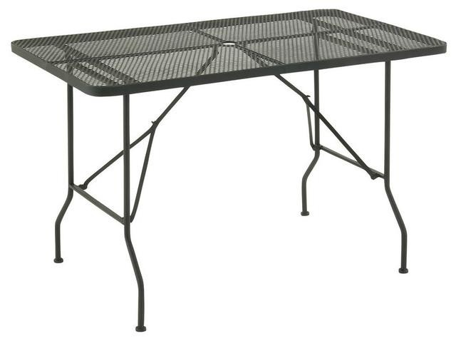Metal Fold Outdoor Table, Punched Hole Design – Modern – Outdoor Intended For Folding Outdoor Dining Tables (Image 18 of 20)