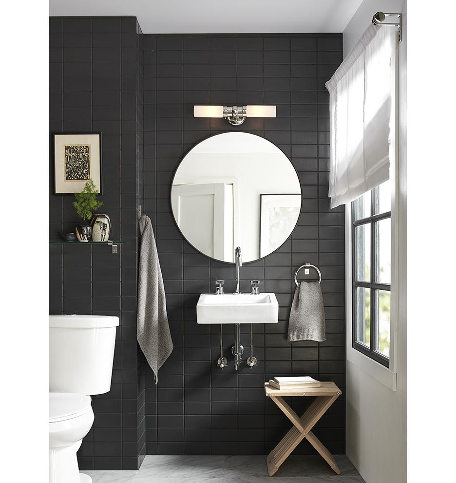 Metal Framed Mirror – Round | Rejuvenation Intended For Round Black Mirrors (Image 11 of 20)