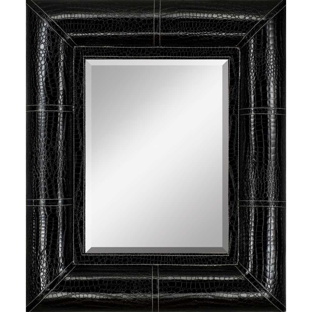 Featured Image of Black Faux Leather Mirror