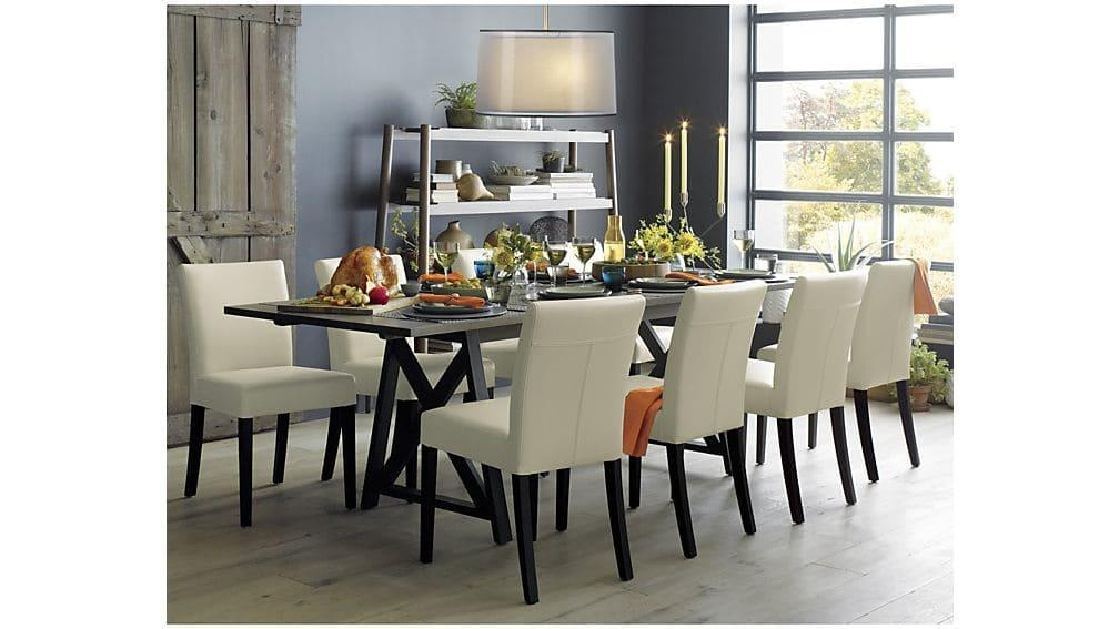 Metra Extension Dining Table | Crate And Barrel Within Extended Dining Tables And Chairs (Image 16 of 20)