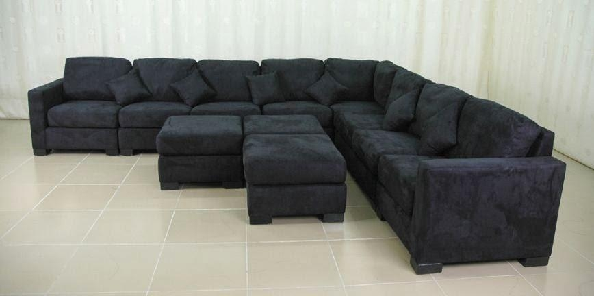 Microfiber Sectional Sofa With Regard To Black Microfiber Sectional Sofas (Photo 3 of 20)
