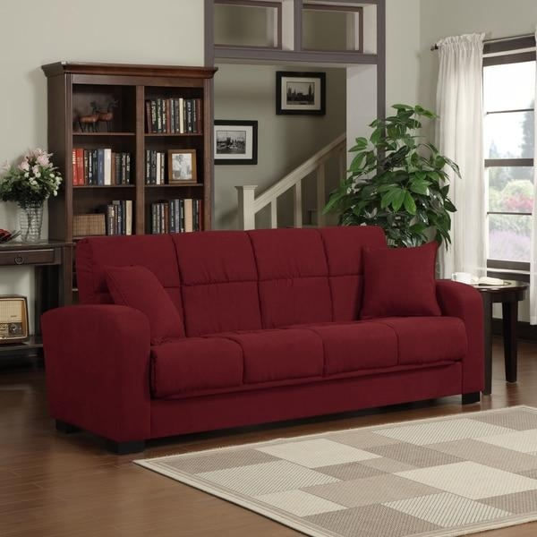 Microsuede Sleeper Sofa – Microsuede Sleeper Sofa, Microsuede Intended For Microsuede Sleeper Sofas (Image 15 of 20)