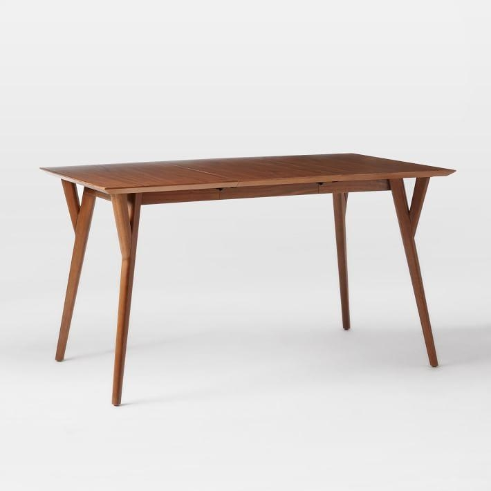 Mid Century Expandable Dining Table | West Elm In Square Extending Dining Tables (View 5 of 20)