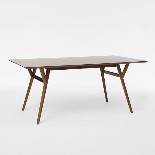 Mid Century Expandable Dining Table | West Elm Inside Small Square Extending Dining Tables (Image 15 of 20)