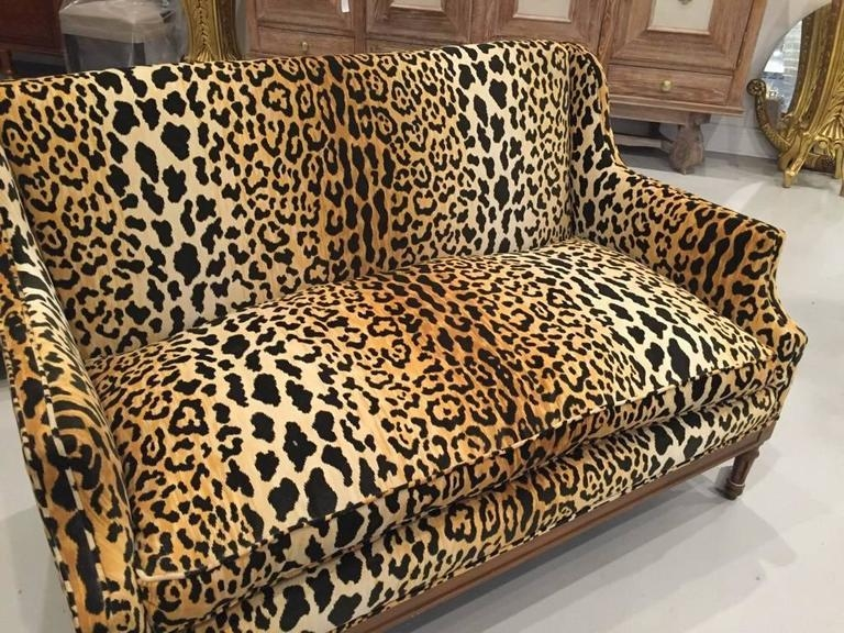 Mid Century Leopard Print Sofa For Sale At 1Stdibs Regarding Animal Print Sofas (Image 13 of 20)