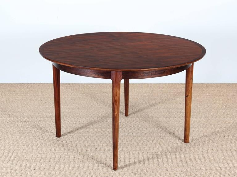 Mid Century Modern Danish Extendable Round Dining Table In Rio With Rio Dining Tables (View 16 of 20)