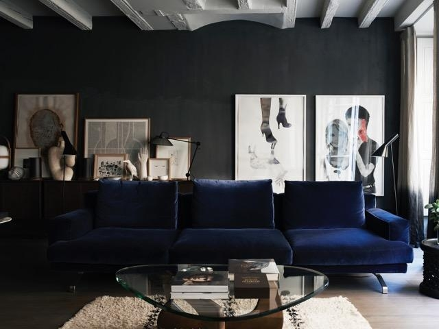 Midnight Blue Sofa Living Room Design Ideas 50 Inspirational Sofas Pertaining To Midnight Blue Sofas (View 4 of 20)