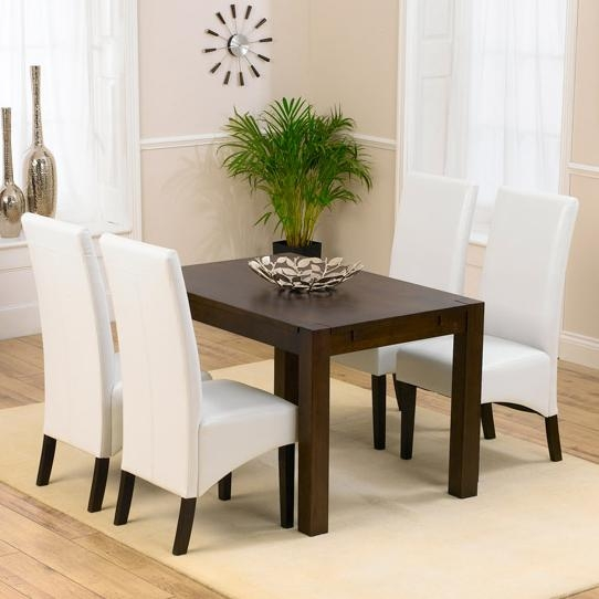 Milan Dark Oak Dining Table And 4 Verona Chairs 13942 With Dark Wooden Dining Tables (Image 16 of 20)