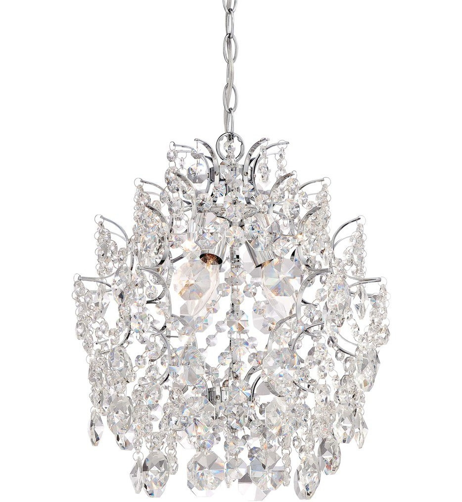 Mini Chandelier Lighting Fixtures Crystal Minka Lavery Mini Throughout Mini Crystal Chandeliers (Image 15 of 25)