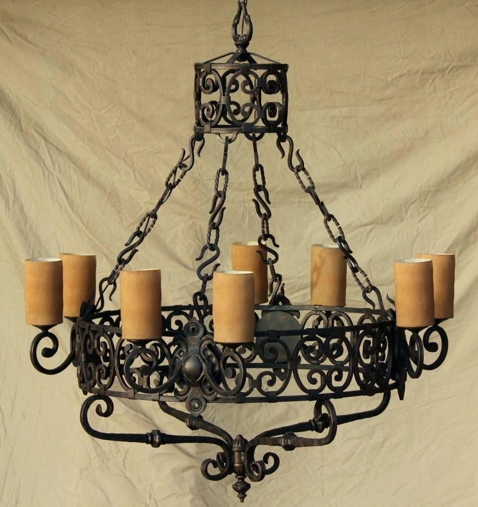 Mini Crystal Chandelier Cheap Wrought Iron Chandelier Light For Standing Chandeliers (View 16 of 25)