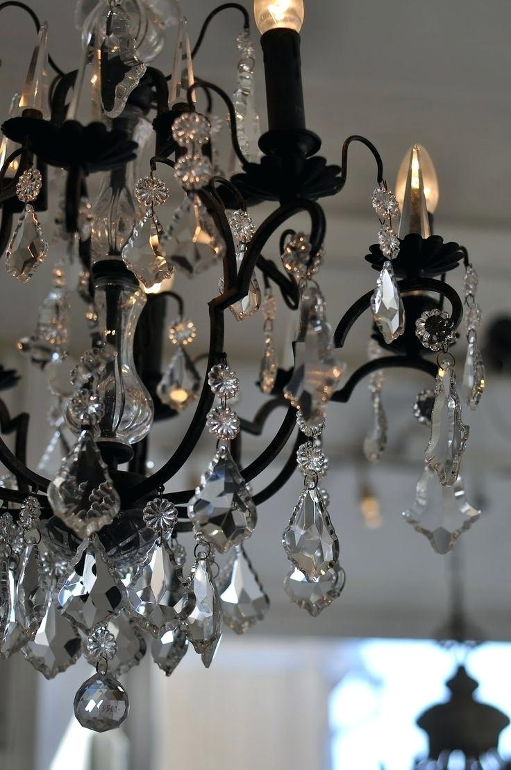 Mini Crystal Chandelier Cheap Wrought Iron Chandelier Light Within Florian Crystal Chandeliers (Image 22 of 25)