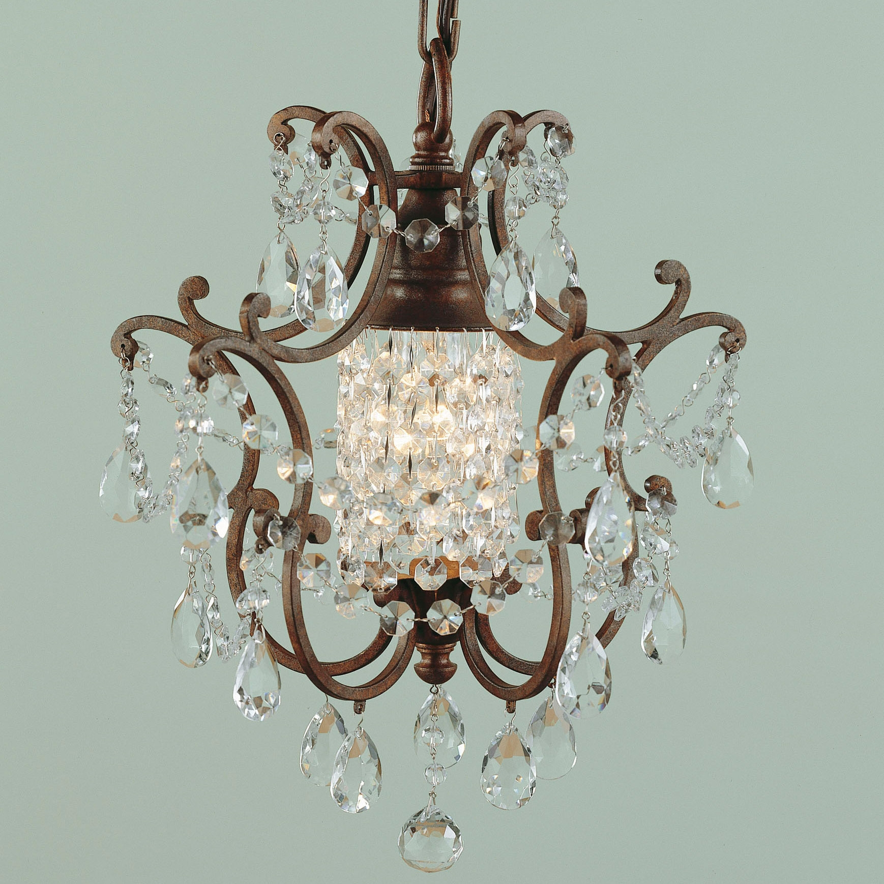 Mini Crystal Chandelier Home Design Ideas Inside Mini Crystal Chandeliers (View 19 of 25)