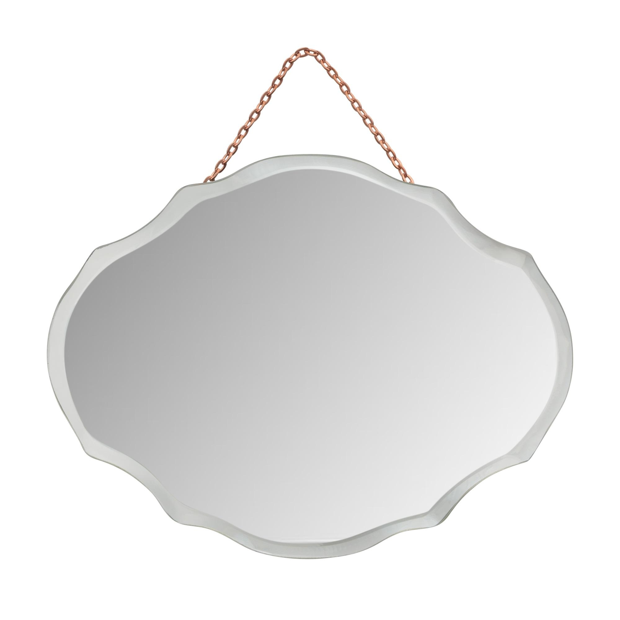 Mini Oval Art Deco Mirror | Oliver Bonas In Artdeco Mirrors (Image 18 of 20)
